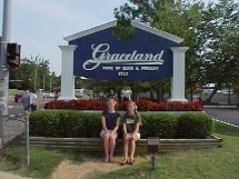 Katie and Ann at Graceland